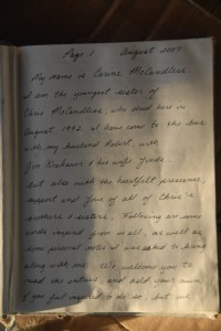letter from Chris McCandless' sister