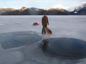 methane seeps on lake eyak cordova alaska