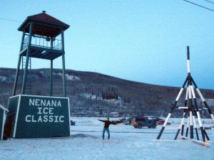 tripod from the nenana ice classic